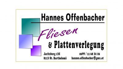 Fliesen und Plattenverlegung – Hannes Offenbacher